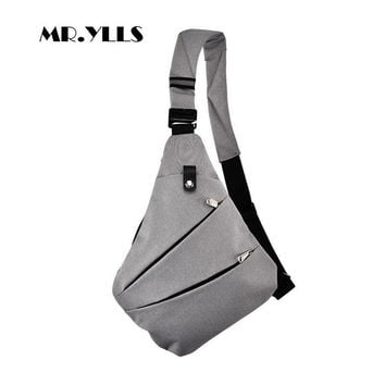 MR.YLLS Waterproof Men Business Style Nylon Messenger Fashion Crossbody Bag
