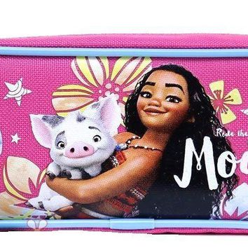 Licensed Disney Moana Pencil Case Zippered Bag/Pencil Case/Pouch -Pink