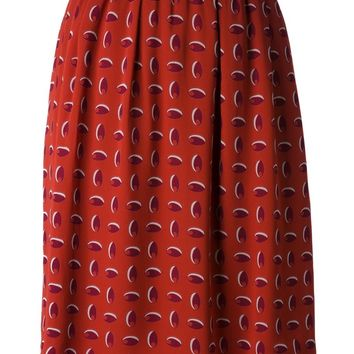 Christian Lacroix Vintage printed straight cut skirt