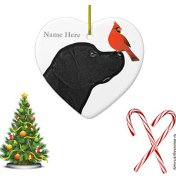 Black Lab Ornament - Black Lab Art 5 - Labrador Ornament - Lab Dog - Dog Christmas Ornament - Labrador Retriever - Lab Dog Keepsake