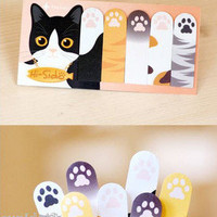 x2 LOT Pet Series Hi-Sido Bookmarks Post-it Sticky Adhesive Note Memo Pad