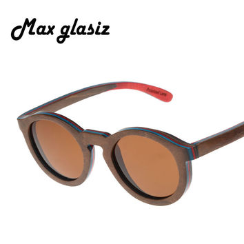 2014 hot fashion wood POLARIZED sunglasses Oculos de sol madeira men women wooden sun glass retro vintage eyewear wooden glasses
