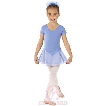 Eurotard 10467 Skirted Short Sleeve Leotard - Child