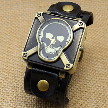 Vintage Skeleton Bracelet Wrist Watch