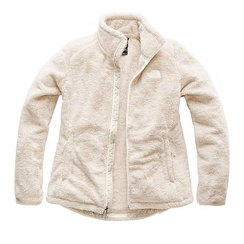 Women's Osito 2 Full Zip Jacket in Vintage White and Peyote Beige Stripe by The North Face