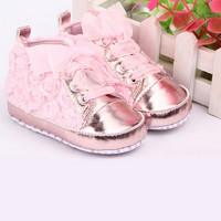 Baby kids Toddler sapato infant Rose flower soft sole girl shoes Baby First walker Shoes