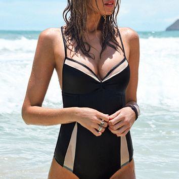 L*Space Black Magic Mesh One Piece
