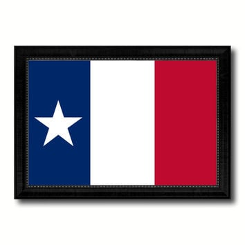 Texas Dodsons Historical Military Flag Canvas Print Black Picture Frame Gifts Home Decor Wall Art