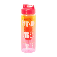 Positive Yellow and Pink Ombre Water Bottle with Infuser