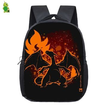 Anime Backpack School kawaii cute Pokemon Backpack for Kids Charizard Venusaur Fluorescence Kindergarten Backpacks Boys Girls Students School Bags Book Bag AT_60_4