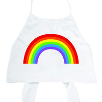 Rainbow White Halter