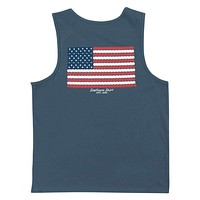 American Twine Pocket Tank Top in Indian Teal by The Southern Shirt Co.