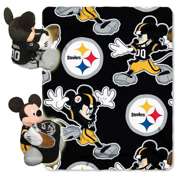 Pittsburgh Steelers NFL Mickey Mouse with Throw Combo