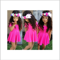 Girls Pink Short Sleeve Dress