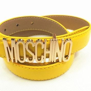 MOSCHINO letters Belt fashion wild candy candy belt-4