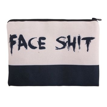 Face Shit Cosmetic Zipper Bag