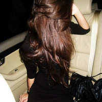 "DOUBLE SET - 24"" Inch Chocolate Brown Clip In Hair Extensions - 200 grams"