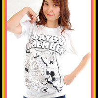 New ADTR A Day To Remember Mickey Rock Women Tank Top T Shirt S, M, L