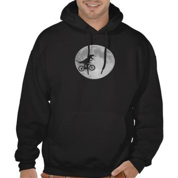 Dinosaur on a Bike In Sky With Moon Hooded Sweatshirt from Zazzle.com