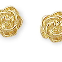 Rose Ear Posts in 14k Gold | James Avery