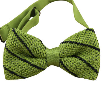 Grass Green Knit Bow Tie