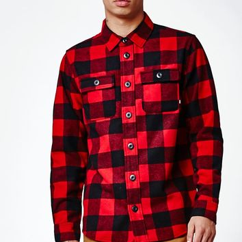 Nike SB Holgate Wool Shirt Jacket - Mens Jacket - Red