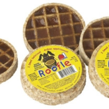 Redbarn Roofle Rawhide Waffle w/ Maple Syrup Dog Treat USA 1.8 oz