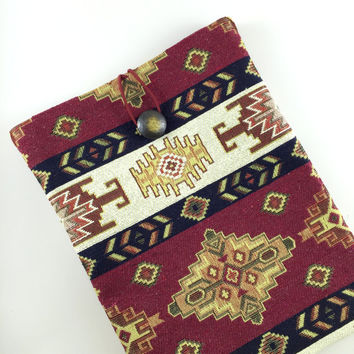 Ethnic Carpet Ipad Case,Kilim Ipad Case,Ethnic Ipad Cover,Fabric Ipad Case,Boho Ipad case,Bohem Style Ipad Case,Boho Book Cover,Ipad Sleeve