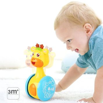 LeadingStar Giraffe Tumbler Doll Roly-poly Baby Toys Rattles Ring Bell for Newborns children 3-12 Month Early Educational zk 15