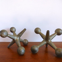 Mid Century Jax/Jack Bookends Pop Art Bill Curry