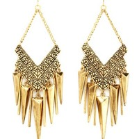 Chevron Spike Chandelier Earrings