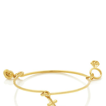Kate Spade Bridal Anchor Charm Bangle Gold ONE