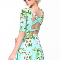 Flower Garden Skater Dress - LoveCulture