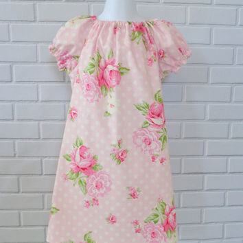 Girls Pink Floral Dress Baby Dress Ready To Ship Valentines Day Easter Boutique Clothing by Lucky Lizzy's