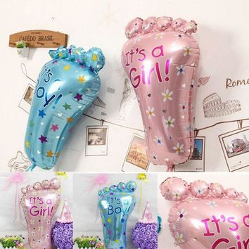 New Children Classic Funny Toys Its a Boy Girl Baby Feet Shape Balloons Lovely Birthday Party Kids Shower Decoration Gifts