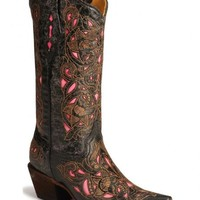 Corral Laser Pink Inlay Cowboy Boots - Sheplers