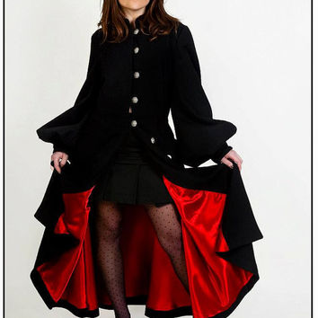 Black and red romanthic Coat