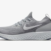 NIKE EPIC REACT FLYKNIT WOLF COOL GREY WHITE AQ0067-002 Mens Running Shoes