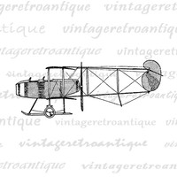 Printable Vintage Airplane Graphic Download Seaplane Image Plane Digital Antique Clip Art Jpg Png Eps  HQ 300dpi No.4555