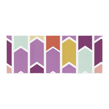 "Pellerina Design ""Orchid Geometric Chevron"" Purple Arrows Bed Runner"