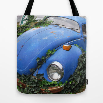 Nature: 1 - Volkswagen Beetle: 0 Tote Bag by Hub Photos