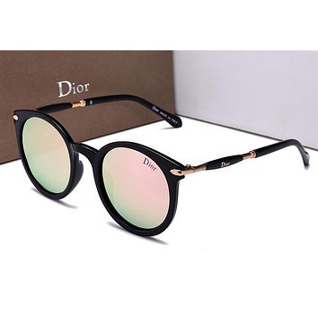 DIOR Stylish Women Men Casual Summer Sun Shades Eyeglasses Glasses Sunglasses Pink I-HWYMSH-YJ
