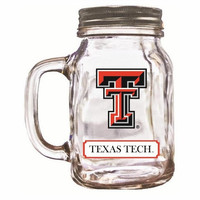 16Oz Mason Jar Texas Tech