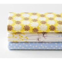 Dailylike quarter linen fabric pack of 3 cotton - nostalgia