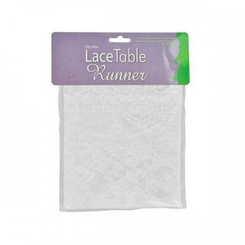 White Lace Table Runner (pack of 12)