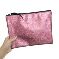 Pink Magic Glitter Clutch Bag