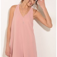 Party dresses > Racerback Shift Dress In Pink