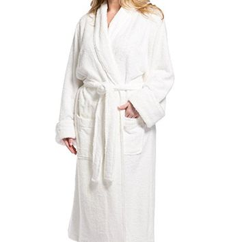Women's Resort / Spa Style Terry Robe; Full Length with Rolled Cuffs