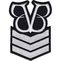 Black Veil Brides Men's Stripes Embroidered Patch Black