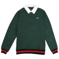 Pocket Rugby Shirt in Green by Stussy